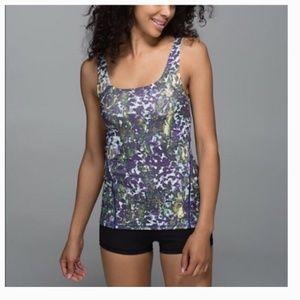 Lululemon Amala Green Purple Floral Tank Top